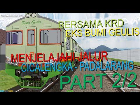 Bersama KRD Eks Bumi Geulis Menjelajahi Jalur Cicalengka - Padalarang (OpenBVE Indonesia) PART 2/2