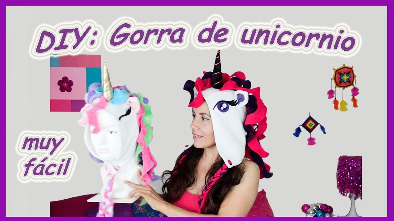 DIY: Gorra de unicornio/ Unicorn hat ❤❤❤ - YouTube