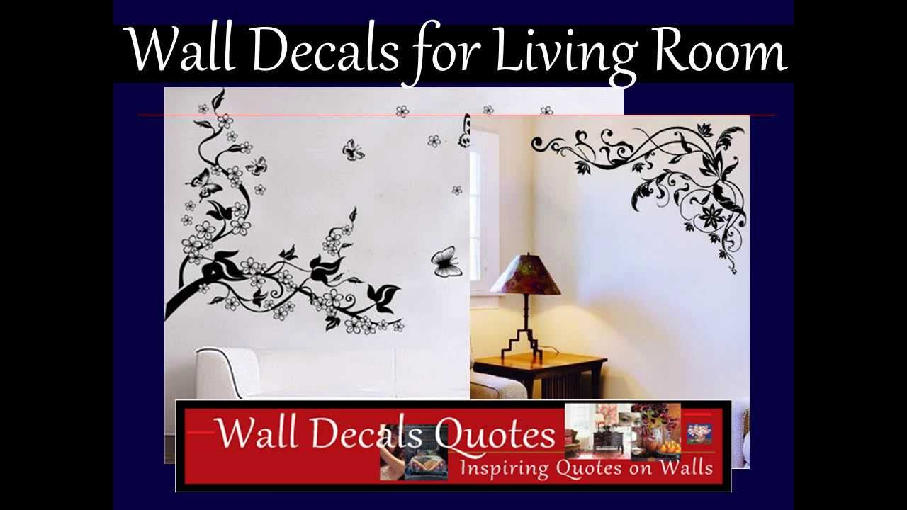 Wall decals for living room youtube wall decals for living room amipublicfo Gallery
