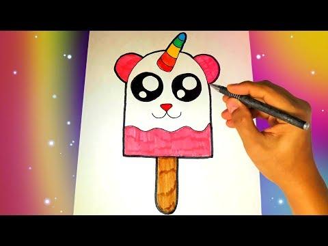 Как нарисовать милое МОРОЖЕНОЕ ЕДИНОРОГА? Легкие рисунки для детей №331