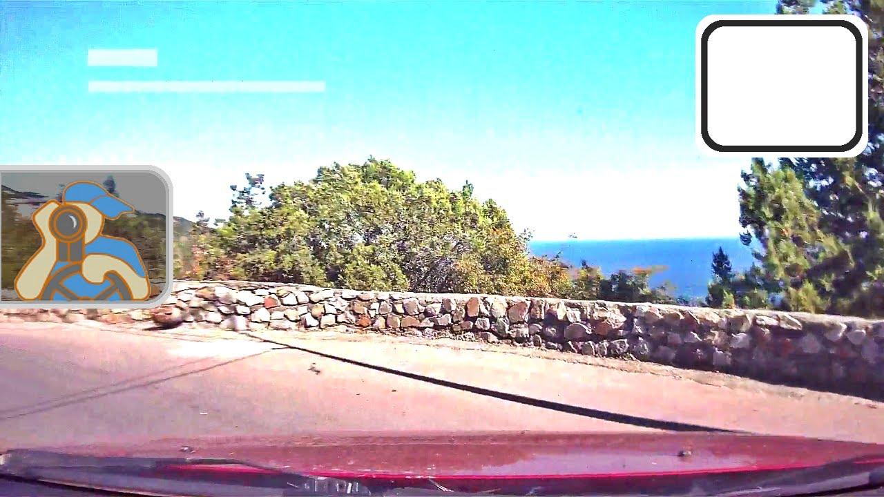 Крым гора Магоби вид на Ялту озера буковый и сосновый лес. Crimea .