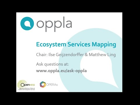 Oppla Webinar: Ecosystem Services Mapping