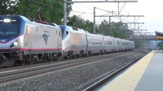 A uniquie catch: Amtrak ACS 64 hauls disabled Acela Express