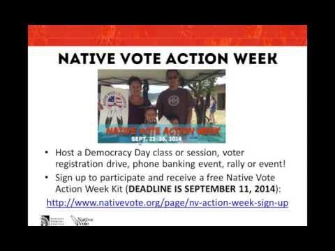 SPECIAL NATIVE VOTE WEBINAR - Grants, Action Week, and Social Media