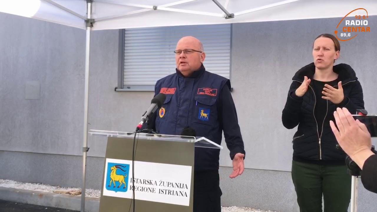 Konferencija Stožera za civilnu zaštitu Istarske županije, srijeda 22 04 2020  COVID 19