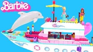 Barbie Luxury Yacht Mermaid Party --- Mega Bloks Barbie Boat Toy Unboxing