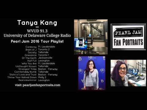 Tanya on WVUD 91.3 - Univ of Delaware College Radio - Pearl Jam 2016 Tour Playlist
