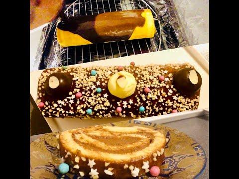 bûche-de-noël-au-caramel-et-chocolat-🍫🤤👌/yule-log-cake🎄just-a-delight