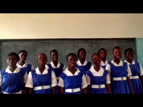 Students from St Josephs Senior Secondary in The Gambia sing 'A Better Place To Be'