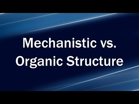 Mechanistic vs. Organic Structure