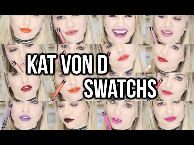 KAT VON D - EVERLASTING LIQUID LIPSTICK | SWATCHS ♡