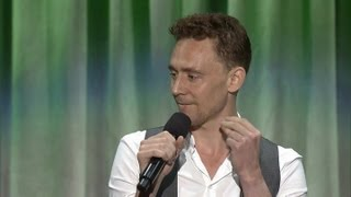 "Tom Hiddleston singing 'The Bare Necessities"" at D23"