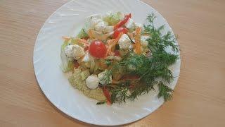 Салат из пекинской капусты с творожным сыром
