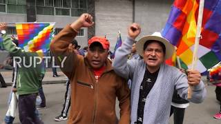 Bolivia: Thousands protest interim government in capital