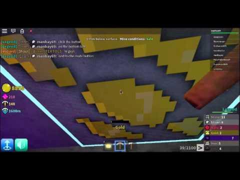 Roblox Azure Mines:Gold Pick VS Gilded Gold Pick (Part 1)