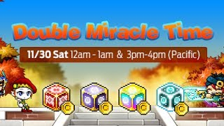 Maplestory- Best Double Miracle Time EVER!~