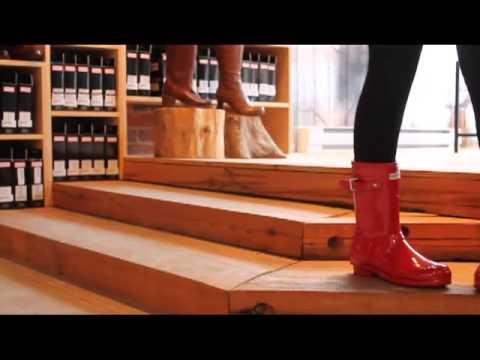 Hunter - Original Short Gloss in Pillar Box Red