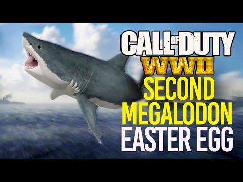 COD WW2: 2nd MEGALODON EASTER EGG! Another SECRET GIANT SHARK!