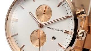 EMPORIO ARMANI WATCH AR0398 CLASSIC BROWN GOLD WATCH REVIEW MENS AR0398 エンポリオアルマーニ 腕時計 ゴールド レビュー