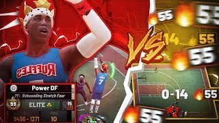 99 OVERALL POWER DF vs 55 GAME WIN STREAK! ISO VS STRETCH BIGS - INSANE GAME OF THE YEAR in NBA 2K19