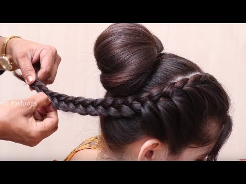 Easy And Amazing Juda Hairstyle With Bun | Hair Style Girl | Latest Hairstyles For Party