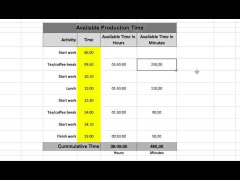 how to get time in excel