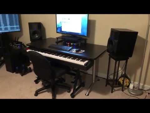 Keyboard Workstation Furniture : affordable 88 key keyboard studio desk no custom fabrication needed youtube ~ Hamham.info Haus und Dekorationen