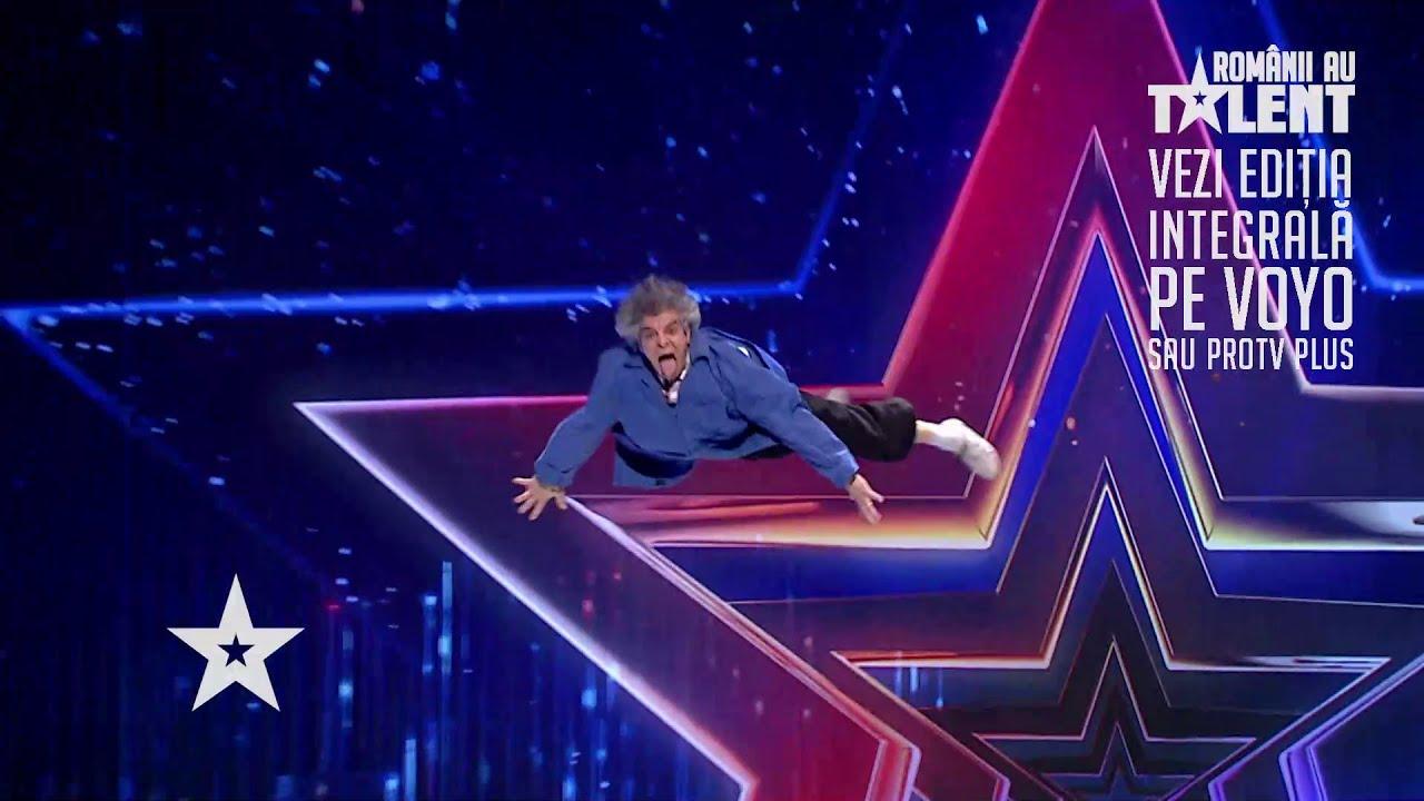 Românii au talent 2021: Costin Pity, moment inedit de acrobație, prezentat într-un mod spectaculos