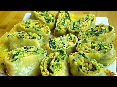 Download 一碗麵粉,一把韭菜,變個花樣吃韭菜,做出皮薄又柔軟的麵食【娟子美食】 Mp4 baru
