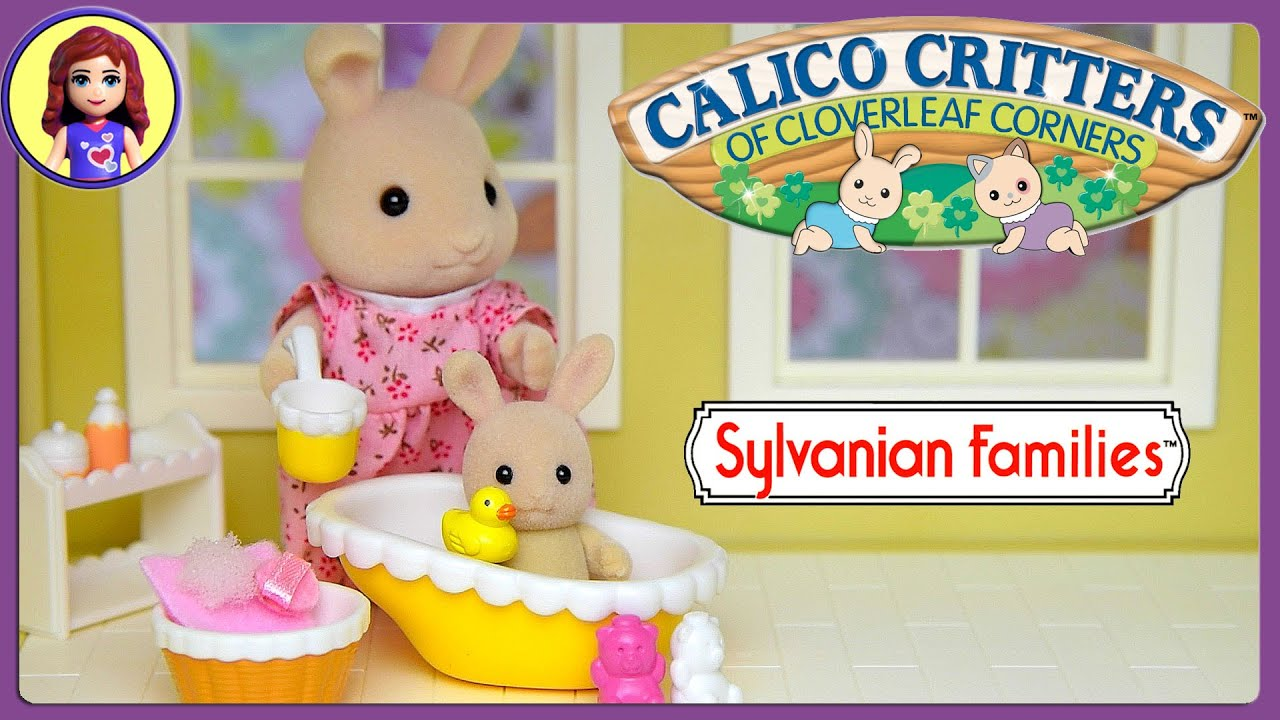 Sylvanian Families Calico Critters Bathtime for Baby Set Unboxing