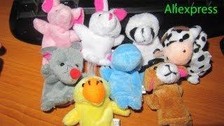 Мягкие игрушки на палец с Aliexpress 20 штук за 6.59$ обзор посылки