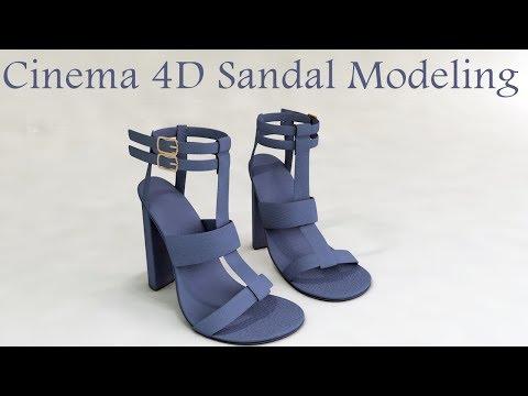 Cinema 4D Heel summer Sandal Modeling