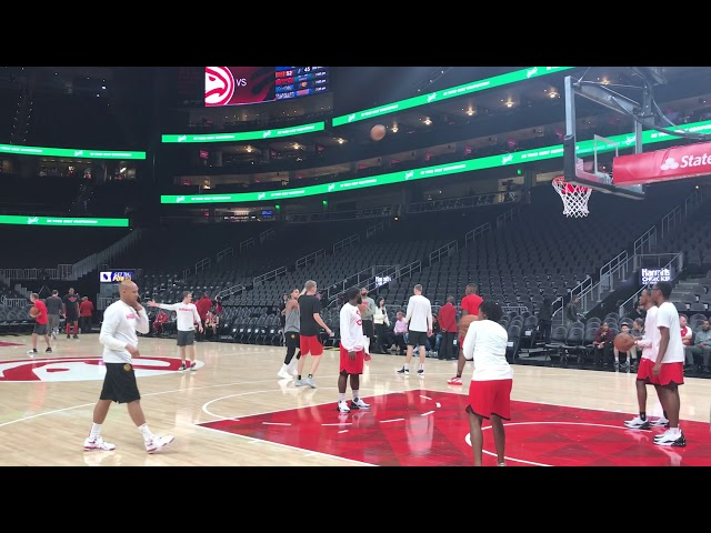 Atlanta Hawks Guard Trae Young Getting That 3 Ball Ready ... Hawks vs Raptors ... #TrueToAtlanta