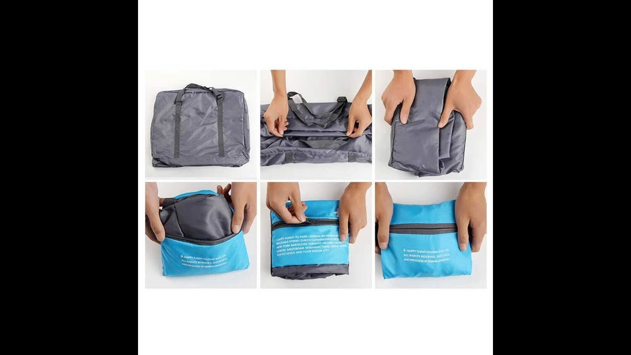 Foldable Travel Bag - How to fold and unfold  01358e142d37c