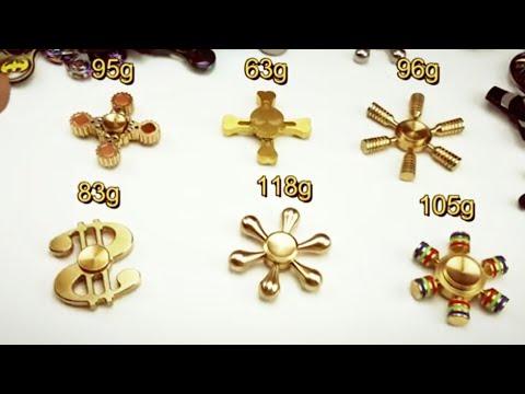 My Best 8 Brass Metal Fidget Spinners + 5 Giveaways!