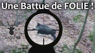 Repeat youtube video Une Battue assez Exceptionnelle - 3 Sangliers au Même Poste ! Chasse HD