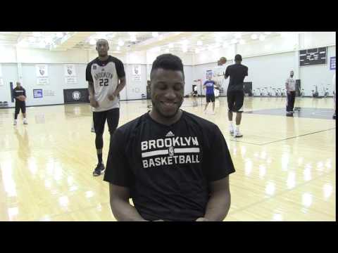 Thad Young video bombed by Markel Brown during sneaker interview