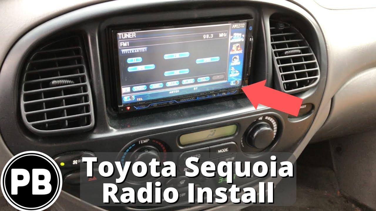 hight resolution of 2001 2007 toyota sequoia bluetooth radio install youtube 2001 toyota tundra radio wiring harness