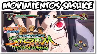 Naruto Shippuden Ultimate Ninja Revolution - » Movimientos Sasuke Uchiha « - [HD]