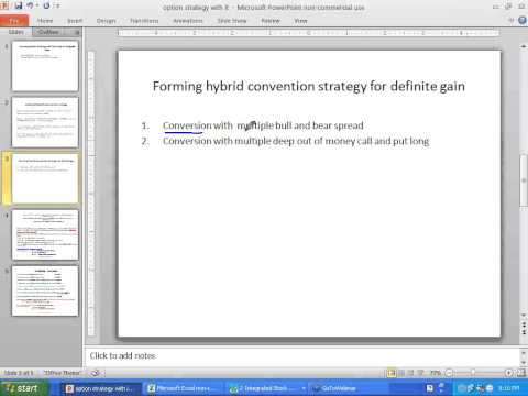 Conversion option strategy formation rule