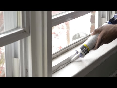 How To Seal Your Windows (caulk)