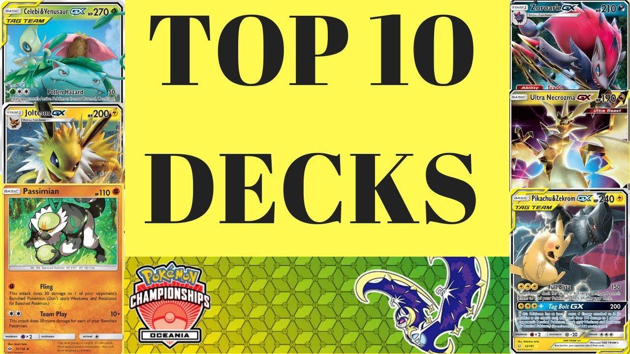 Best Pokemon Decks 2019 Top 10 Decks in Standard! With Decklists (Pokemon TCG)   YouTube