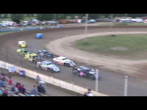 I.M.C.A. Heat Race #1 at Crystal Motor Speedway, Michigan on 07-22-2017.