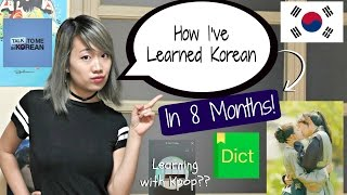 How I've Learned Korean in 8 Months! (My Process and Tips)