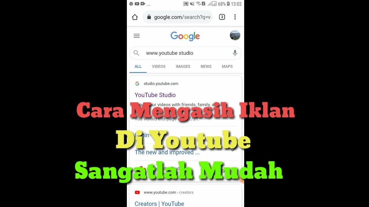 Cara Cerdas Cara Memasang Iklan Di Youtube 2021 Menggunakan Hp Android Praktis Mudah Murah Di 2021 Rabab Minangkabau