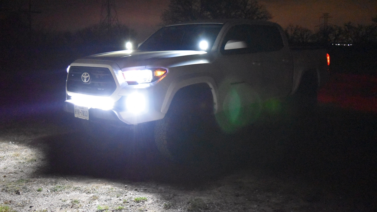 2017 Toyota Tacoma (3rd gen) LED set up - YouTube