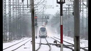 Winter Schnee und Züge Bad Oldesloe 08-09.02.2013