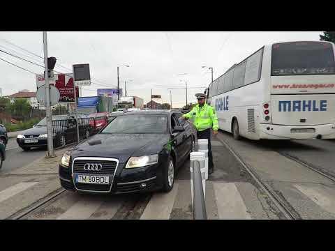 Tupeul şi nesimţirea unor şoferi sancţionată de poliţiştii rutieri la Timişoara