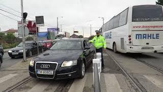 Tupeul si nesimtirea unor soferi sanctionata de politistii rutieri la Timisoara