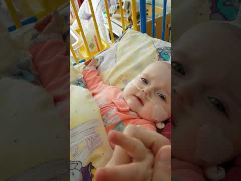 Bexley's Ewok impression (8 months) In hospital for RSV Boblingen, Germany Feb 2018